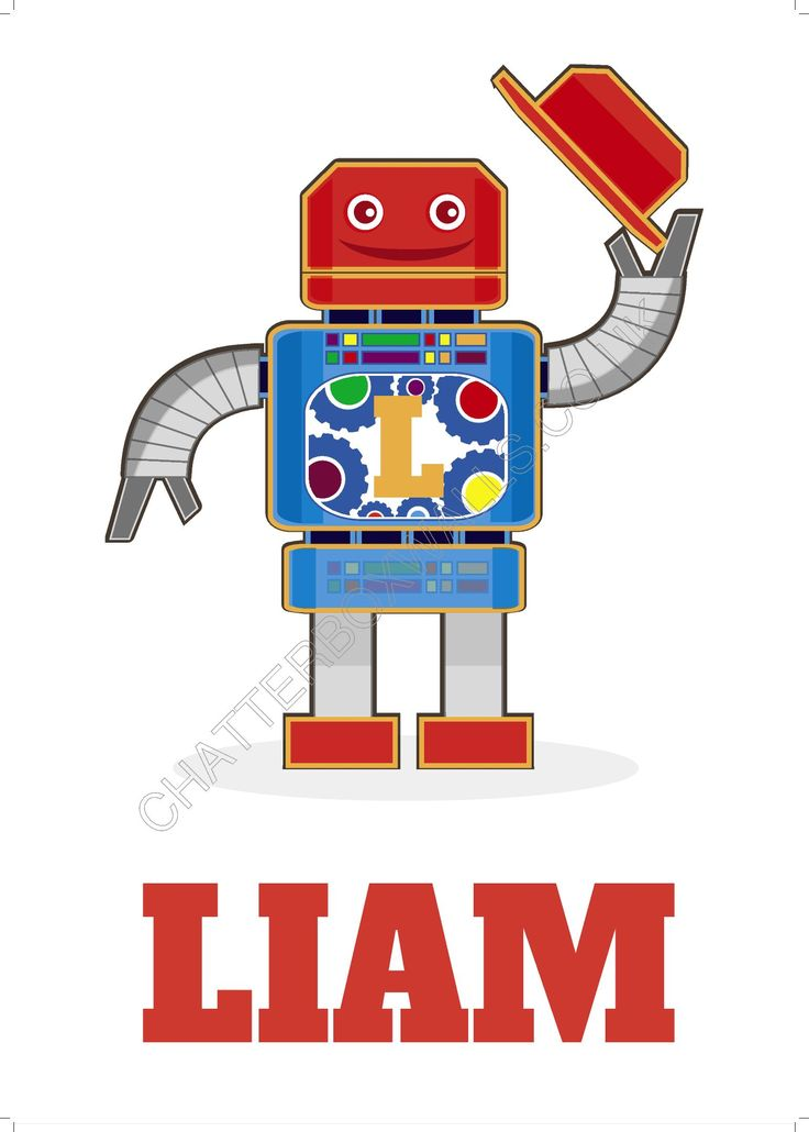 With our clever Robot design, you all you need to do is type your little robot's name, and it will instantly appear, with their initial also appearing on it's front panel. Perfect for any little robot's room