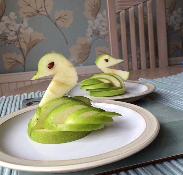Apple swans