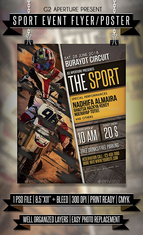 #Sport #Event #Flyer / Poster - Events Flyers
