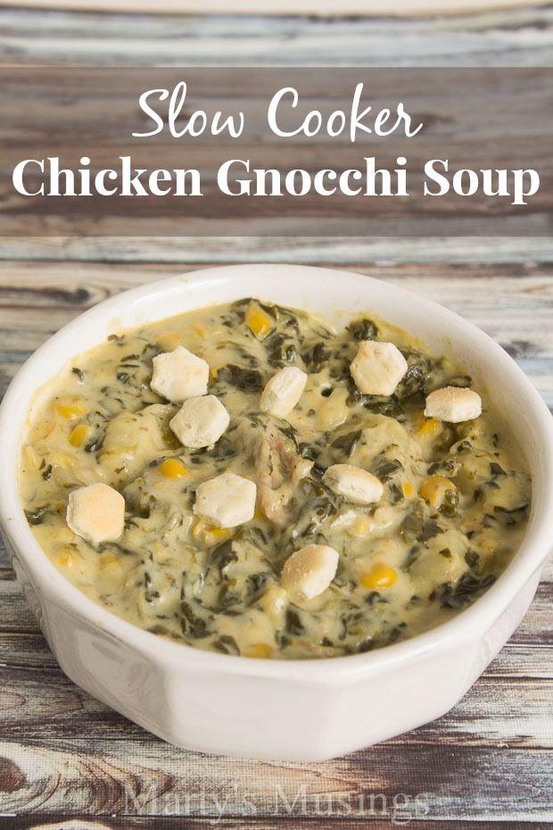 Slow Cooker Chicken Gnocchi Soup