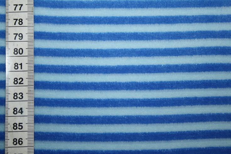Westfalenstoff Nicki Stoff in blau gestreift - Renee D. Onlineshop
