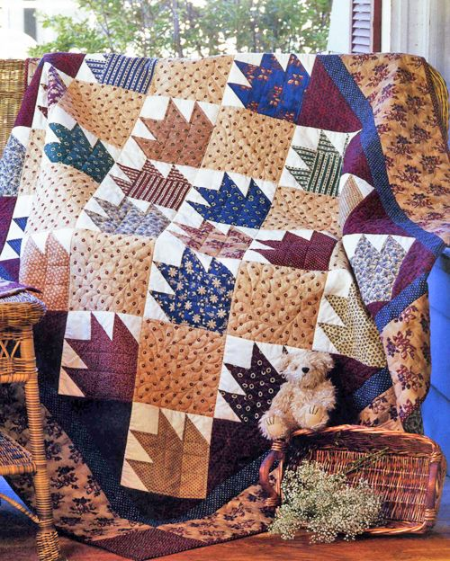Bear Hug (from The Quilter Magazine special Scrap Quilt Favorites issue)