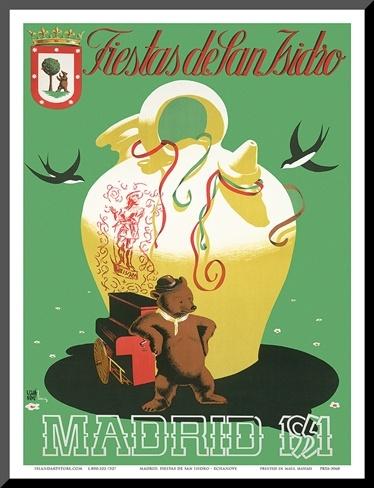 Fiestas de San Isidro: Madrid, Spain c.1951 Art Print