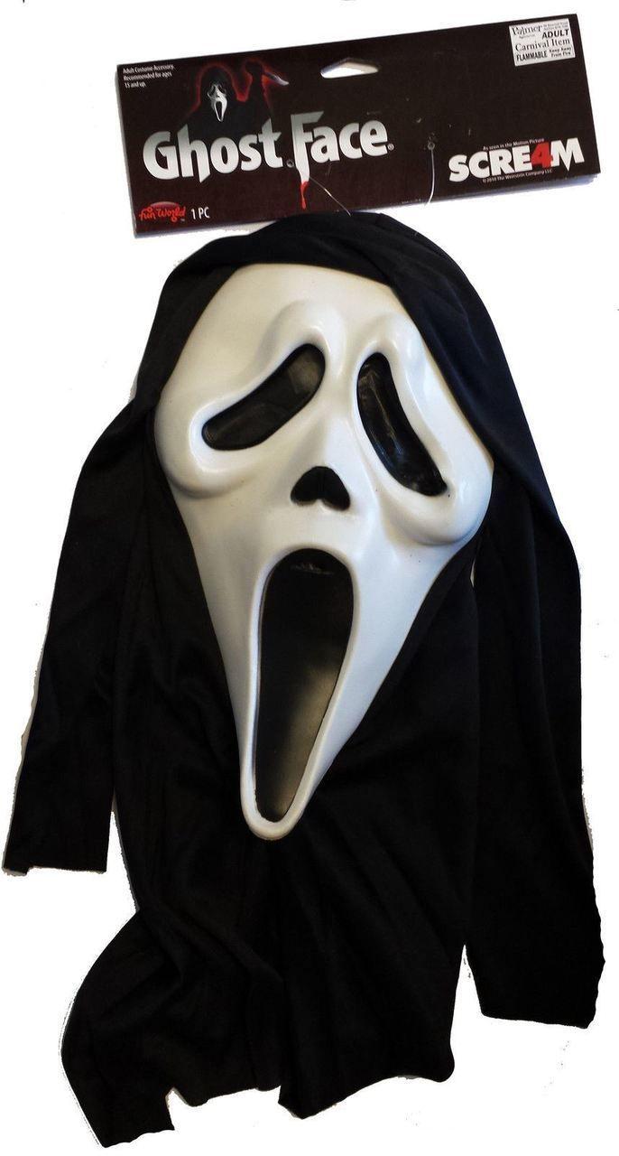 Original Scream Scary Spoof Movie Licenced Ghostface Halloween Fancy Dress Mask - Dragons Den Fancy Dress Limited