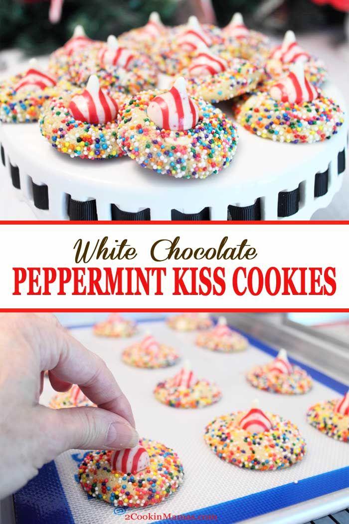 White Chocolate Peppermint Kiss Cookies Recipe Kiss Cookies