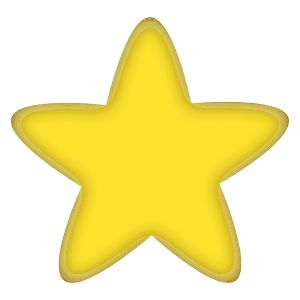 Star by @CandyAdams, 5 Pointed Yellow Star with rounded edges