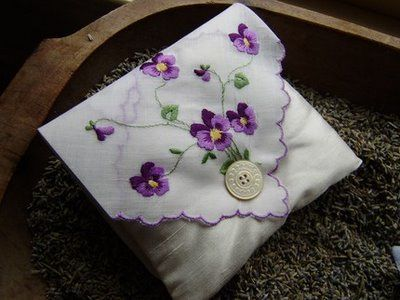 crafts made from handkerchiefs | From One Mom to Another...: Etsy Inspiration - Vintage TextilesWarm ...
