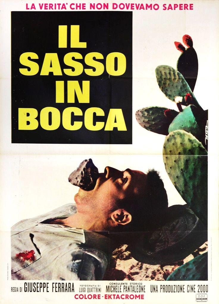 """""""Il sasso in bocca"""" (1969); regia: Giuseppe Ferrara. Titolo francese: """"Une pierre dans la bouche""""; titolo spagnolo: """"La piedra en la boca"""""""