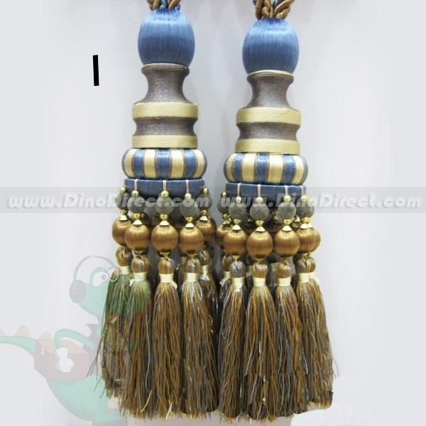 Curtain tie backs curtain ties and tassels on pinterest for Designer curtain tie backs