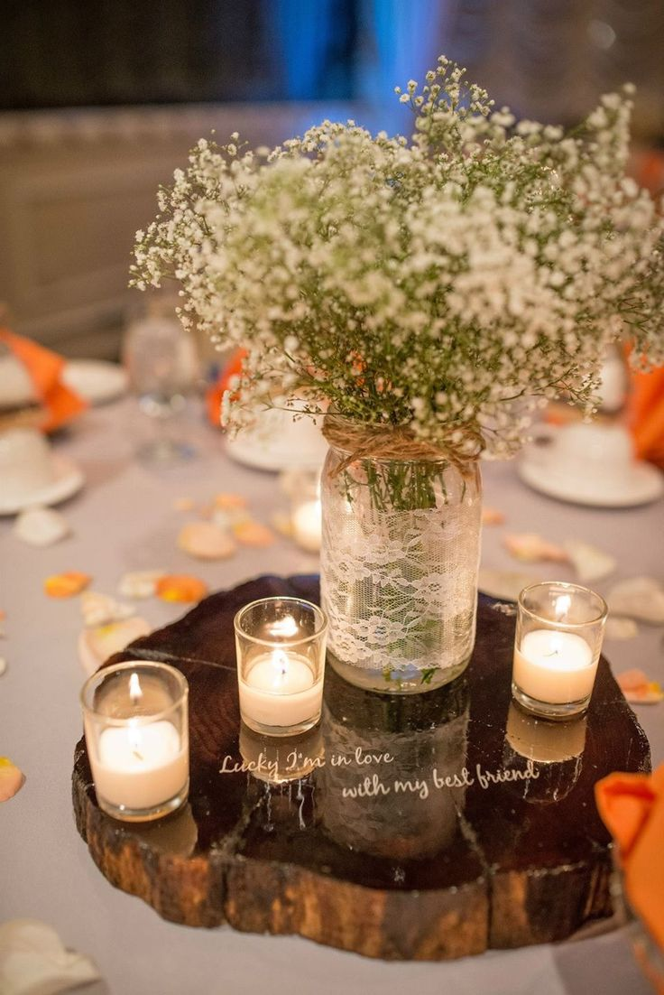 Rustic fall wedding centerpieces campo