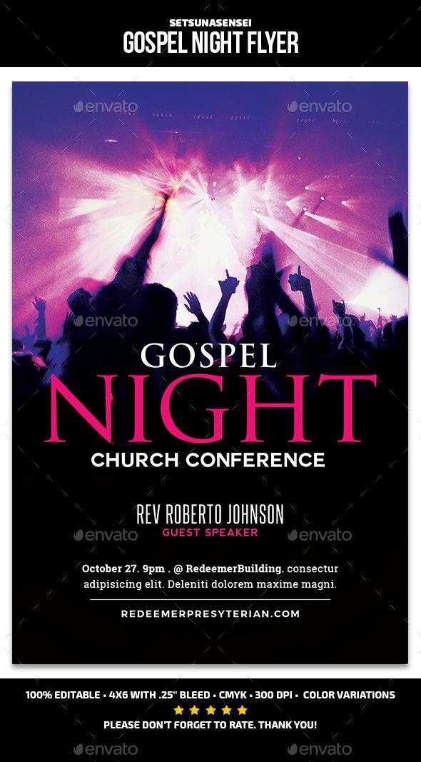 gospel night flyer church flyers flyer pinterest flyer
