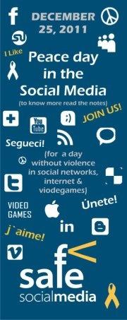 """Cooperación Internacional se adhiere a esta campaña mundial y quiere invitar a todos a vivir un 25 de diciembre sin ningún tipo de violencia en los Social Media (internet, redes sociales y videojuegos). Un día sin ciberbulling, pornografía, pedofilía, violencia de género... Haciendo click en """"Me Gusta"""" Peace Day Online ayudará a promover una cultura por la paz en las redes. Cuantos más """"Me Gusta"""" consigamos, más cartas enviaremos a las empresas de medios."""