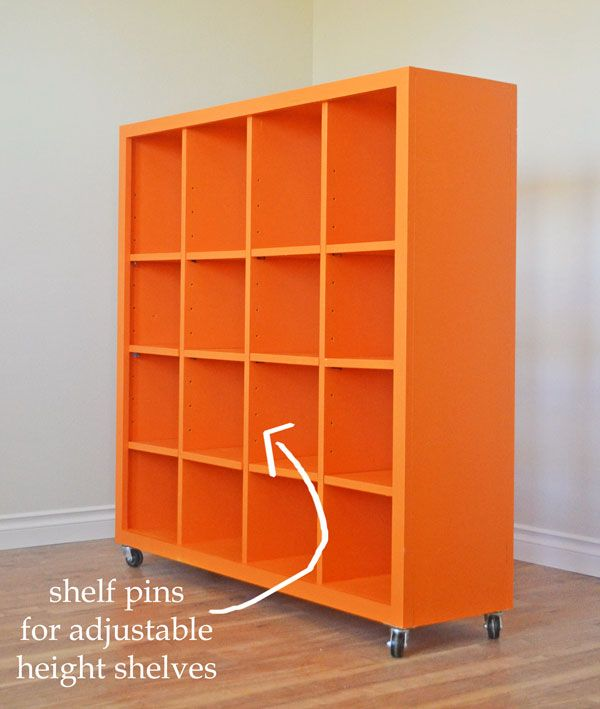 Ana White | Build A 4x4 Rolling Cube Shelf   Adjustable Shelves | Free And  Easy