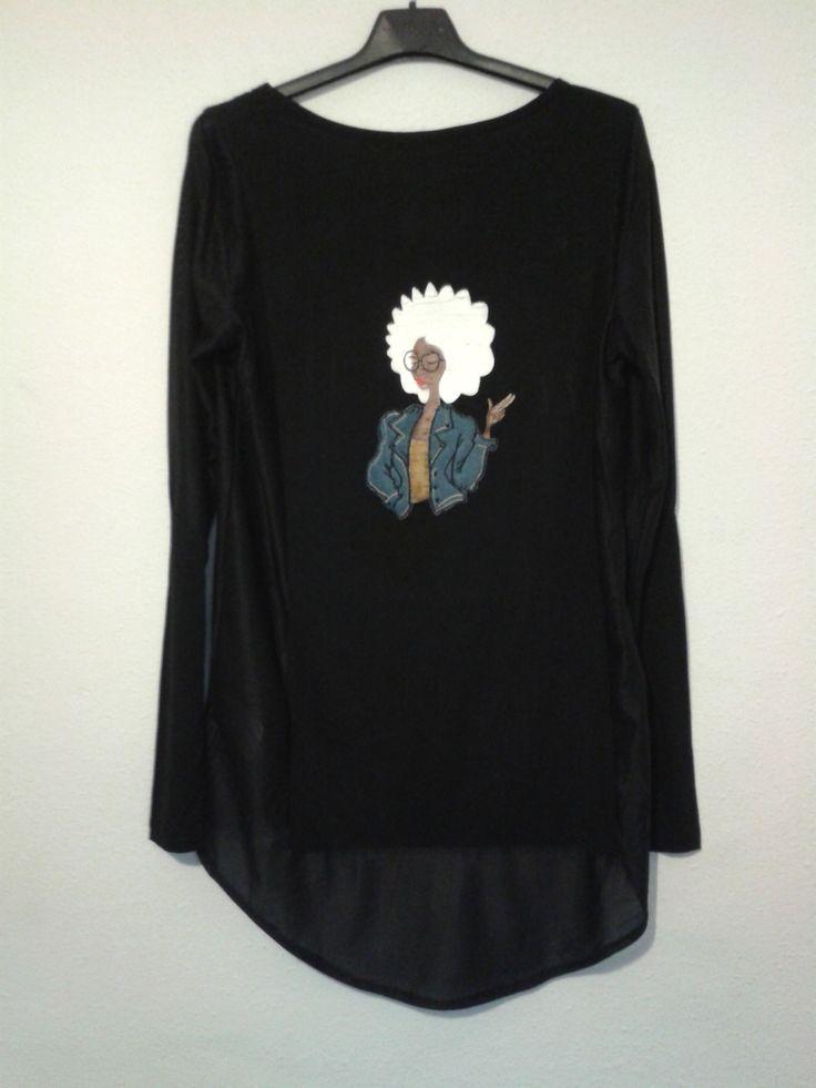 Camisa negra con transparencia Cool