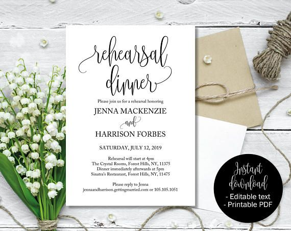 The  Best Rehearsal Dinner Invitation Wording Ideas On