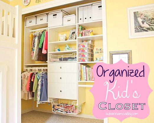 Organized Kids Closet Ask Anna Organizing Closets