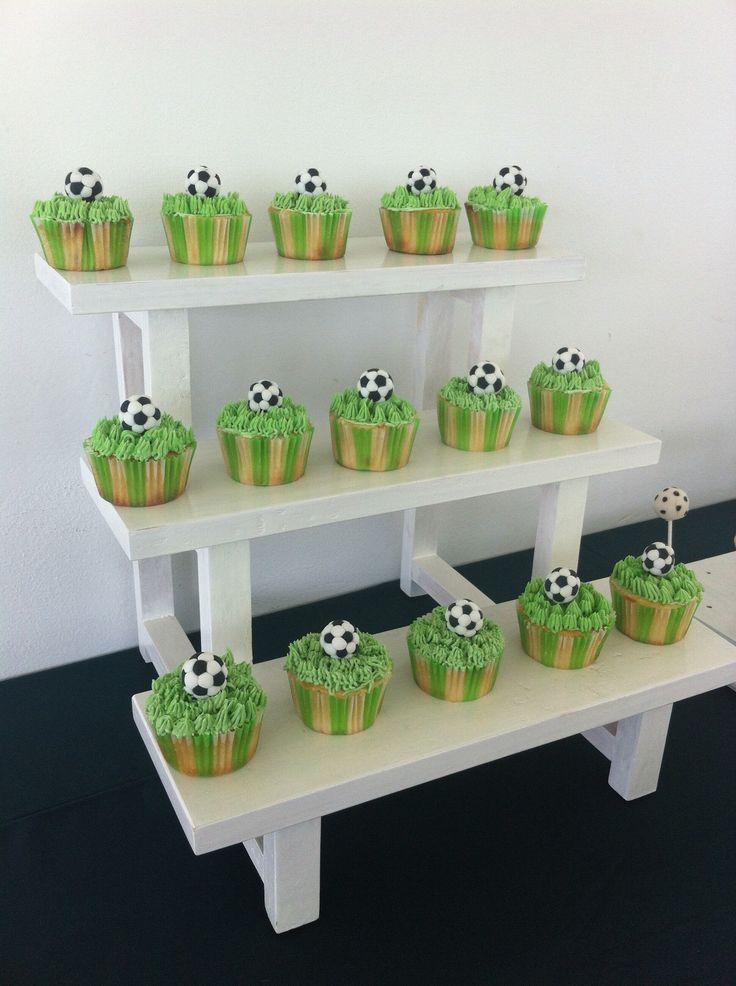 Cupcakes con temática de fútbol
