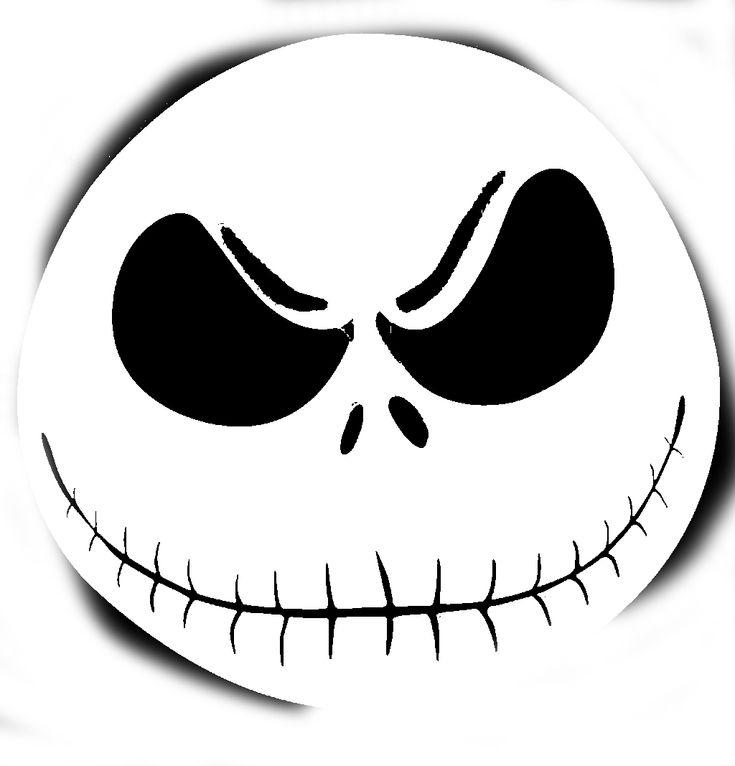stencil Patterns | Smiling Skull Pumpkin Carving Pattern