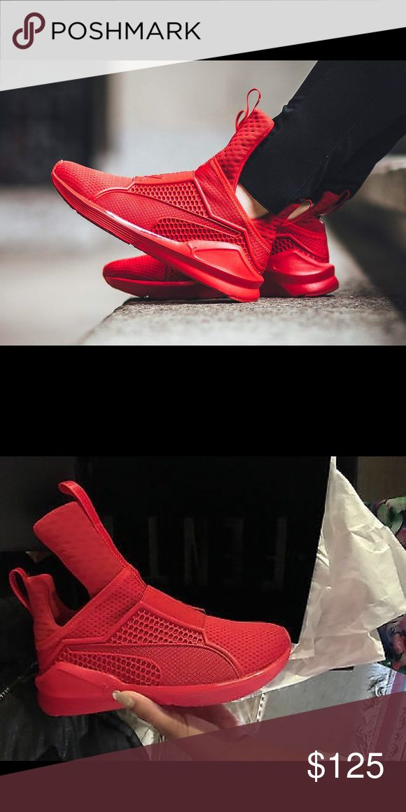 Puma x Fenty Red Trainers Brand new Rihanna Fenty Puma trainers. Never worn. No dirt, tears, or creases on shoes.  📍📍📍FINAL PRICE!!!!!!📍📍📍 Puma Shoes