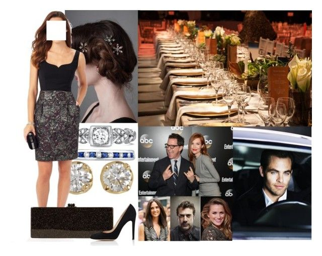 """""""Hosting a dinner for the Swiss Prime Minister and his wife"""" by irenaofslovenia ❤ liked on Polyvore featuring Giorgio Armani, Hoorsenbuhs, GALA, Phase Eight, Edie Parker and Gianvito Rossi"""