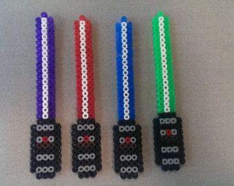 Hama Bead Star Wars Lightsaber Keychains