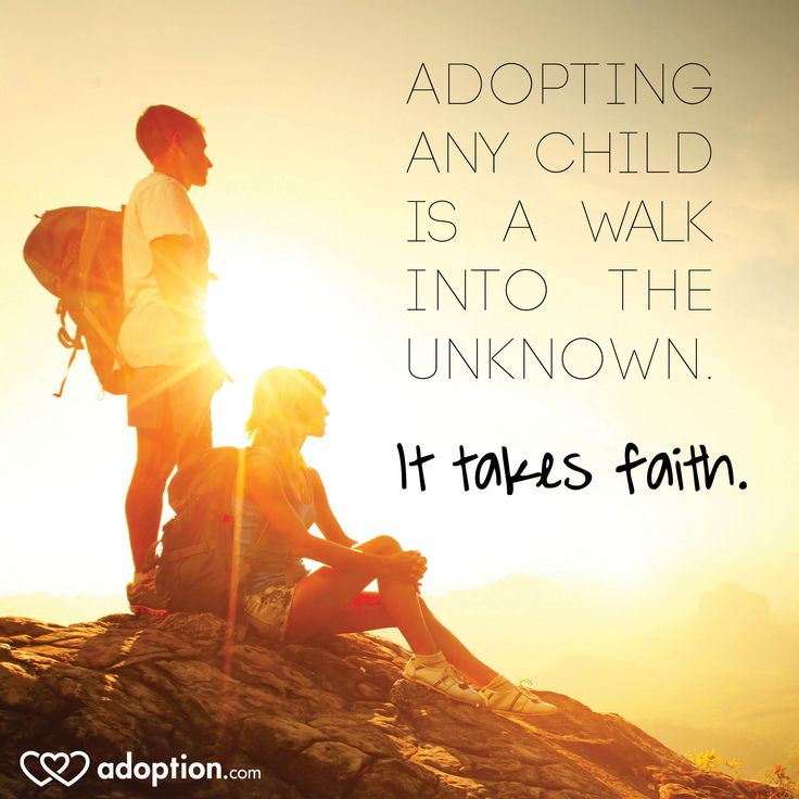 Adopting any child is a walk into the unknown. It takes #faith. #adoption