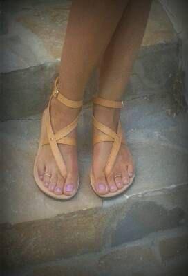 Original Greek sandals Women's Gladiator sandals by madammeshushu