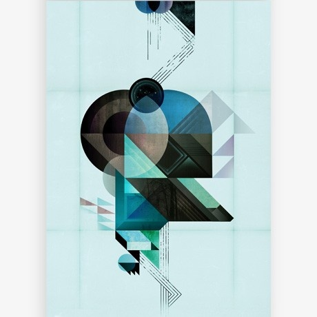 look at these disruptive and discordant shapes in the Illustration of Kasper Pyndt | available on MONOQI