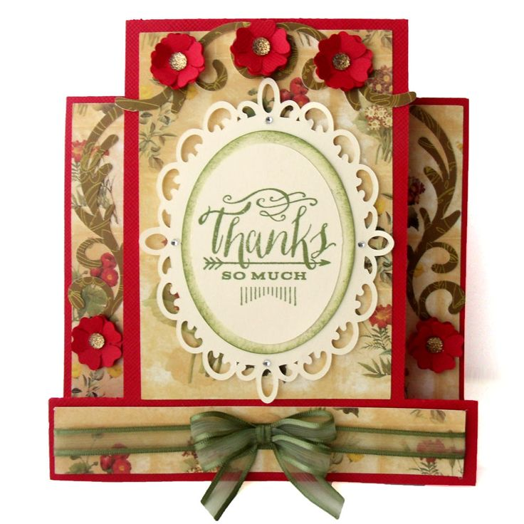 Center Step thank you card by Pazzles DT member Melin Beltran.