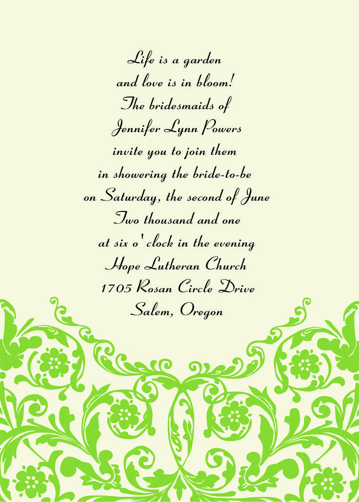 12 best invitation wordings images on Pinterest ...
