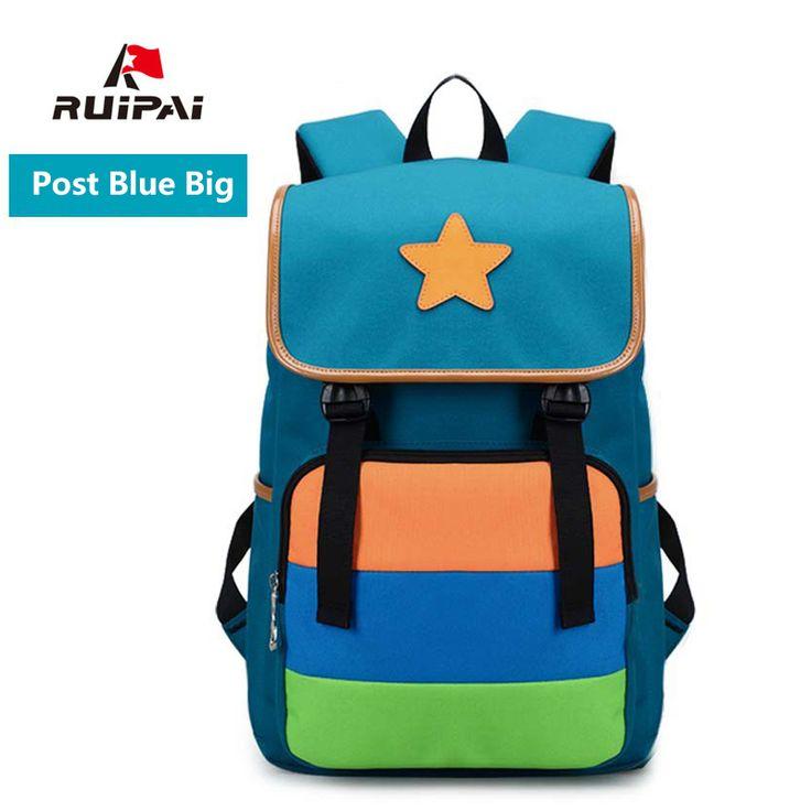 RUIPAI Casual Backpacks Schoolbag Kids Lovely School Bags Cute Stars  Shoulder Bags Light Backpacks for Boys