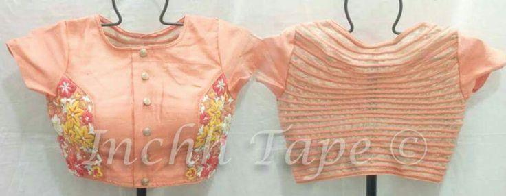Blouse back design