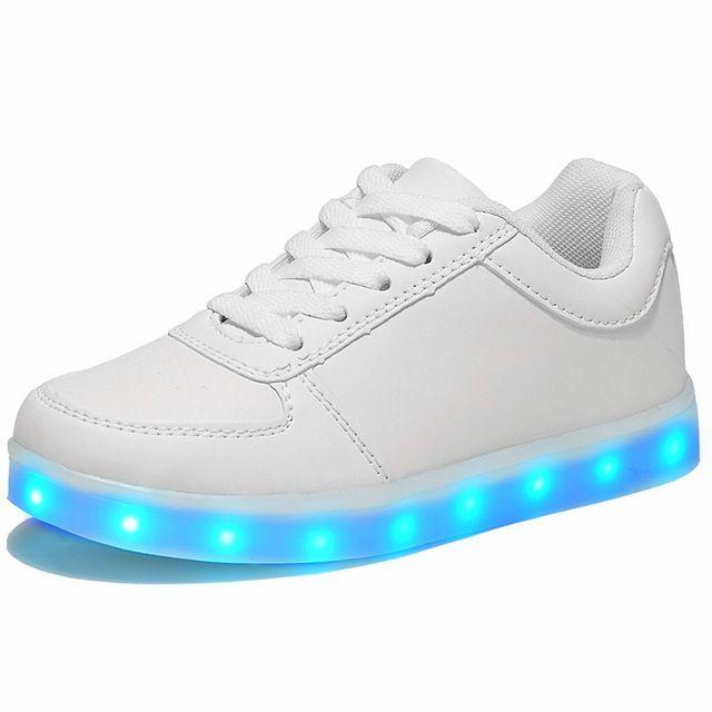 Led luminoso Zapatos Para Niños niñas Moda Light Up Casual niños 7 Colores de carga USB nueva simulación único Brillante niños zapatillas de deporte