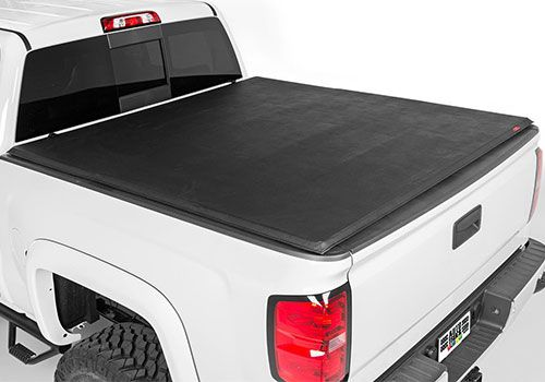 Ford Truck Accessory - Rough Country Ford F-Series Soft Tri-Fold Tonneau Cover