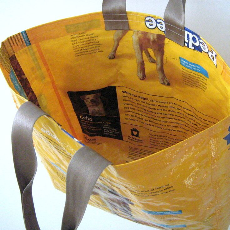 How To Recycle Dog Food Bags Into Something Useful
