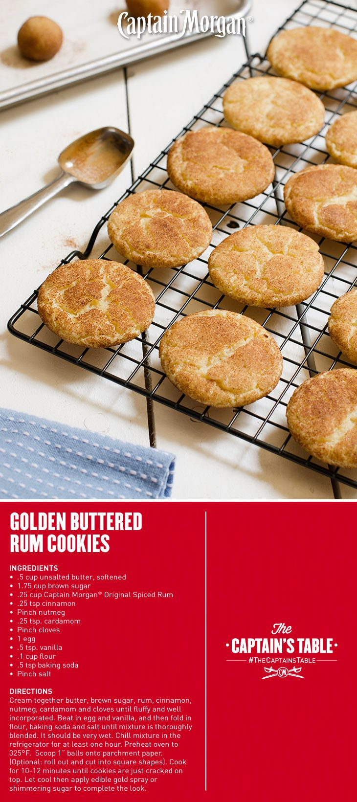 Golden Buttered Rum Cookies: And the award goes to…everyone! Great party idea…