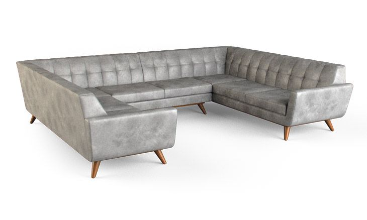 Hughes Leather U-Sofa Sectional