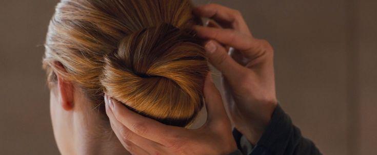 Shailene Woodley bun in Divergent