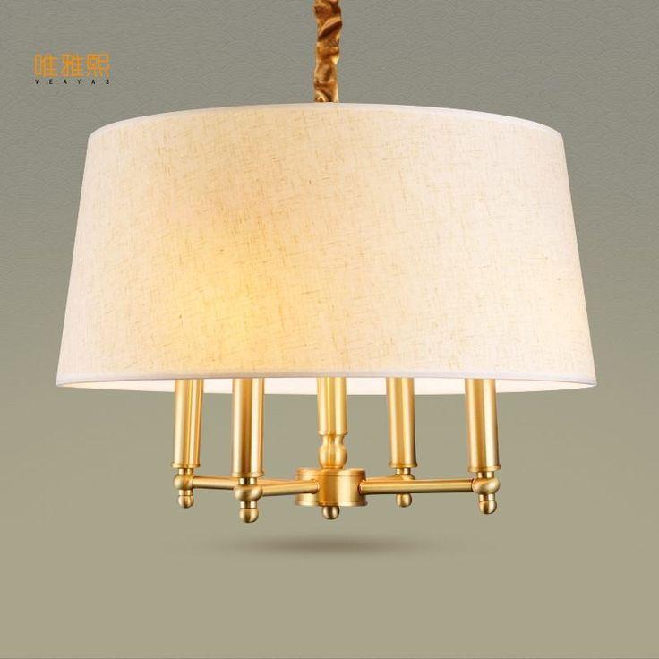 Высококачественный золотой люстра в лобби огни прихожей спальня лампы освещения лампы Люстры купить на AliExpress