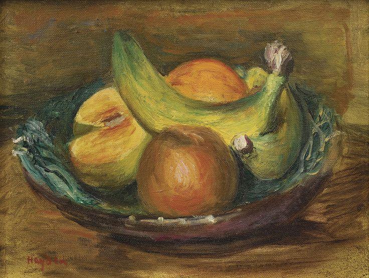 Hayden Henryk -. JABŁKA I BANANY olej, płótno naklejone na tekturę, 20 x 26