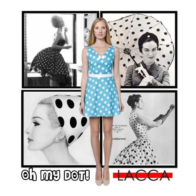 Be irresistible with our flirty dotted dress! We just adore the mood of the 50's! http://laccafashion.com/collections/dresses/products/dotted-turquoise-summer-dress