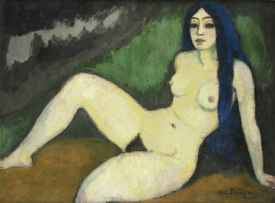 """Kees Van Dongen (Dutch 1877-1968) Sirène espagnole, 1912 """