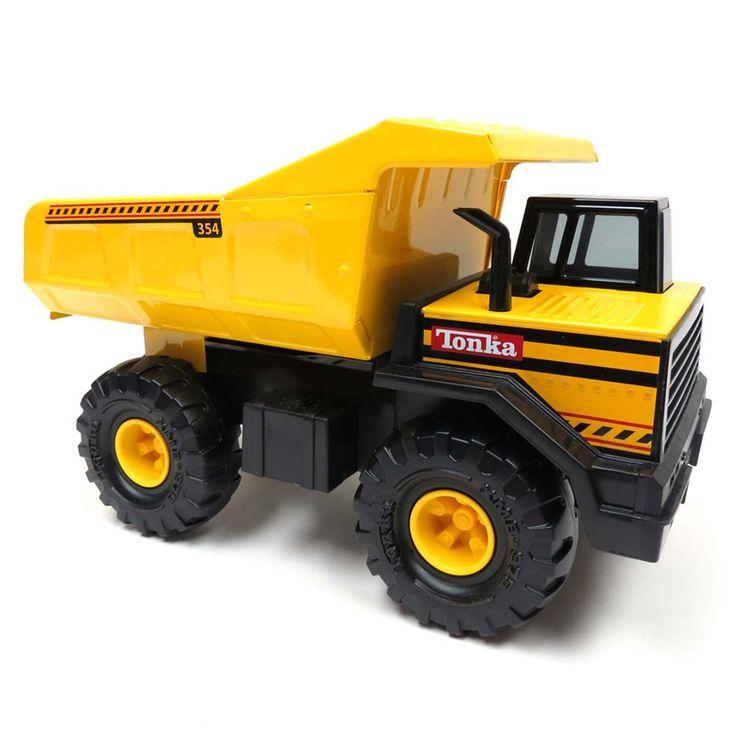 Best 25 tonka trucks ideas on pinterest dump truck party digger party and construction theme - Camion benne tonka ...