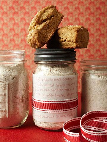 Gingerbread Scone Mix and Apple Cinnamon Muffin Mix with Parchment Paper Label for Jar of Quick Bread Mix