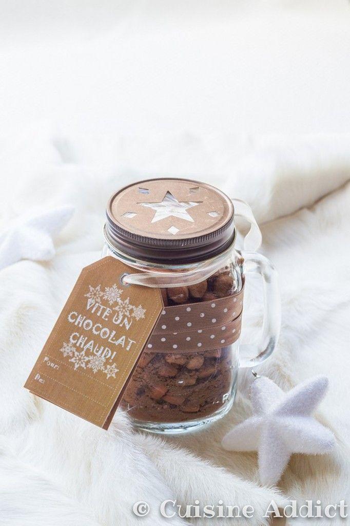 mix pour chocolat chaud cadeau gourmand cadeaux gourmands pinterest cuisine. Black Bedroom Furniture Sets. Home Design Ideas
