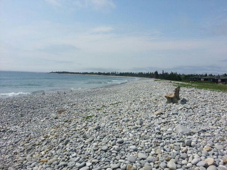 Whitepoint - tide's in so it's a little rocky