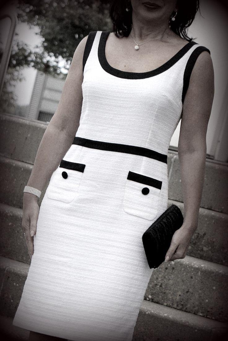 Модное ретро 60-е ...только белый и только чёрный / Фотофорум / Burdastyle