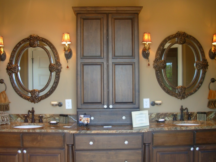 Knotty Alder Cabinets, Rain Forest Brown Marble, Luxe Homes And Design,  Bridgemoor Knoxville