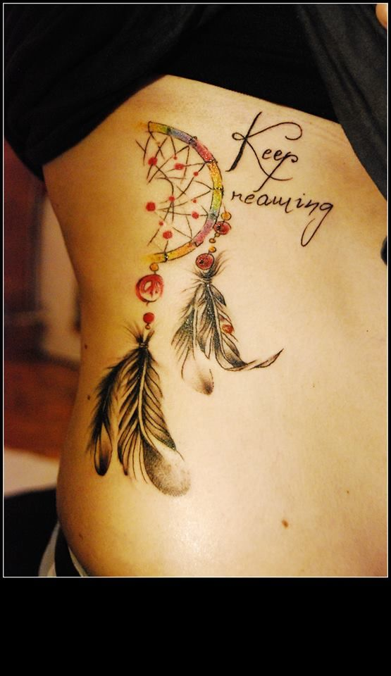 Interesting idea for dreamcatcher tattoo...https://www.facebook.com/pages/BAStattoo-GALLERYart-caffe/124021327663799?fref=ts