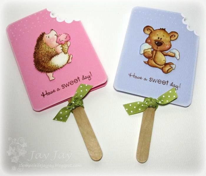 Stempeleinmaleins: Eis am Stiel Karte/Popsicle Card